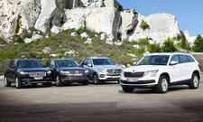 Skoda Kodiaq, Volvo XC90, Mercedes GLE, VW Touareg im Test