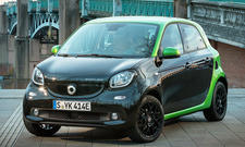 Erste Fahrt im neuen Smart Forfour electric drive