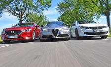 Alfa Romeo Giulia/Mazda6/Peugeot 508