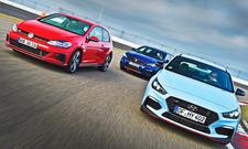 Hyundai i30 N Perf., Peugeot 308 GTi, VW Golf GTI Perf.