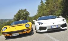 Magie: Lamborghini Aventador und Miura SV