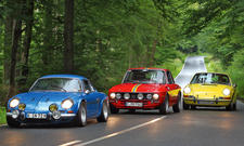 Classic Cars Vergleich Sportwagen Legenden Renault Alpine A110 Lancia Fulvia Porsche 911 T