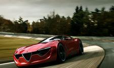 Alfa Romeo 6C Muscle-Car Studie Alexander Imnadze Alfa-Front