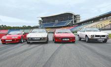 Renault Alpine A310 V6, Porsche 924, Talbot-Matra Murena 2.2 S und Alfa Romeo Alfetta 1.8 GT Bilder