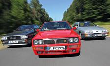 Audi quattro 20V Ford Sierra XR4i Lancia Delta HF Integrale EVO II Vergleich Bilder technische Daten