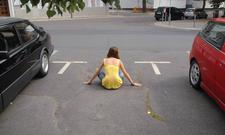 Fussgaenger Parkplatz freihalten blockieren gesetz verboten