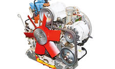 NSU Ro 80 Wankelmotor Technik Classic Cars Motor Bilder