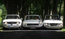 Alfa Romeo Giulia Sprint GT Lancia Fulvia Coupe Fiat 124 Sport Coupe Vergleich Bilder technische Daten
