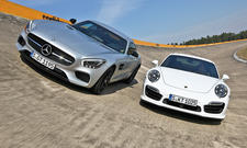 Porsche 911 Turbo Mercedes-AMG GT S Sportwagen Vergleichstest