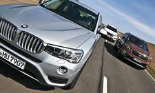 Kia Sorento BMW X3 Hyundai Grand Santa Fe SUV Diesel Vergleichstest