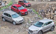 Hyundai Tucson Honda CR-V Mazda CX-5 VW Tiguan SUV Vergleichstest