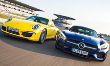 Mercedes-AMG GT Porsche 911 Carrera S Sportwagen Vergleichstest