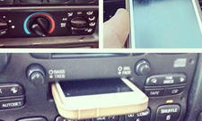 iPhone Autoradio Kassette Display-Kratzer Fail