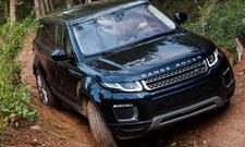 Range Rover Evoque schwarz Frontansicht