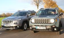 Jeep Cherokee und Jeep Renegade im Vergleich