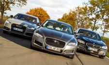 Audi A6 vs BMW 5er und Jaguar XF