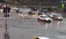 Lamborghini Gallardo im Hochwasser