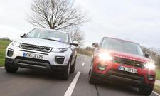Range Rover Evoque Range Rover Sport Vergleich