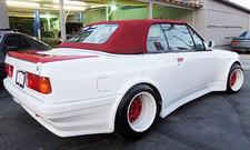 325er BMW Cabrio Vokuhila-Style