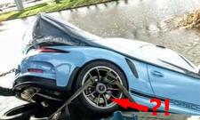 911er GT3 RS im Kanal versenkt