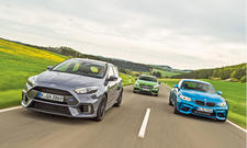 BMW M2, Ford Focus RS, Mercedes A 45 AMG