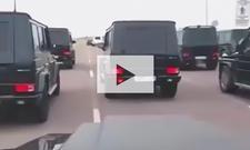 Mercedes G-Klasse auf Formationsfahrt: Video
