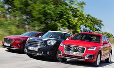 Vergleichstest: Audi Q2 vs. Mazda CX-3 und Mini Countryman