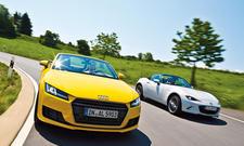 Audi TT Roadster/Mazda MX-5: Vergleich