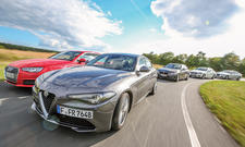 Alfa Giulia/Audi A4/BMW 3er/Jaguar XE/Mercedes C-Klasse: Vergleich