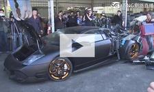Illegaler Lamborghini Murciélago zerstört: Video
