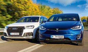 SUV-Vergleichstest: Audi SQ7 gegen Tesla Model X P100D