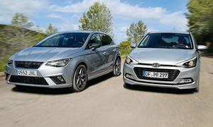Hyundai i20 blue 1.0 T-GDI/Seat Ibiza 1.0 Eco TSI