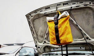 Airpaq-Rucksäcke aus Airbags und Gurten