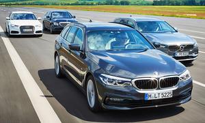 Audi A6 Avant/BMW 530 Touring/Mercedes E 350 T-Modell/Volvo V90 D5