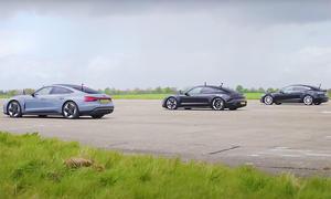 Audi RS e-tron GT/Porsche Taycan/Tesla Model S