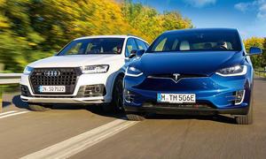 Audi SQ7 und Tesla Model X P100D im Test