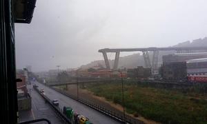 Autobahnbrücke A 10 bei Genua