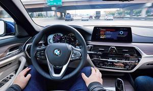 Autonomes Fahren im BMW 5er