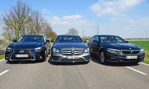 BMW 540i xDrive/Lexus GS 450h/Mercedes E 400