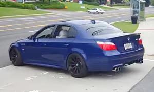 BMW M5 (E60) mit Eisenmann-Auspuff