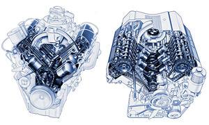 BMW 502 & 740i (E32): V8-Motor