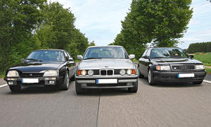 Sportlimousinen: Audi 100 S4, BMW 525i und Citroën CX Turbo