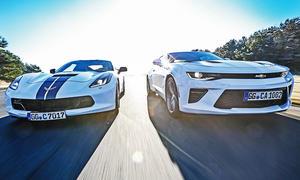 Corvette gegen Camaro im Test