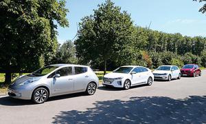 Nissan Leaf/VW e-Golf/Renault Zoe/Hyundai Ioniq Elektro