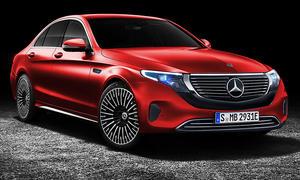 Illustration: Mercedes C-Klasse EQC-Gesicht
