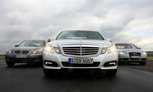 Vergleichstest in der Oberklasse: Audi A6, BMW 5er und Mercedes E-Klasse