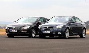 Vergleichstest Mittelklasse: Opel Insignia 2.0 CDTI gegen VW Passat CC 2.0 TDI