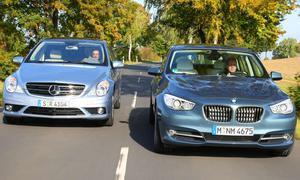 BMW 530d GT gegen Mercedes R 350 BlueTEC