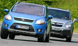Zweiliter-Diesel mit Allradantrieb: Ford Kuga 2.0 TDCi 4x4 und Opel Antara 2.0 CDTI im Markenvergleich