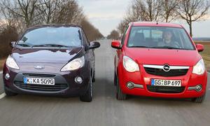 Im Vergleich: Ford Ka 1.2 und Opel Agila 1.2